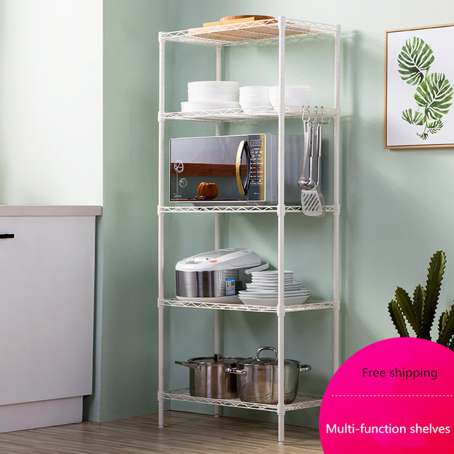 Free Shipping Racks Bathroom Shelves Storage Kitchen 5 Layers Bathrooms