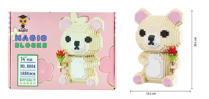 Image 3 - BABU dessin animé mike monstre université animal chien chat enfants en plastique bloc de construction figurines garçons jouet éducatif 8801 8808