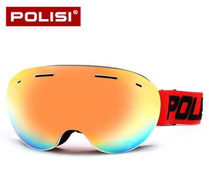 Новая распродажа POLISI Профессиональные Открытый Восхождение Снег зеркало Mountain Лыжный Спорт двойной Анти-Туман Лыжные очки