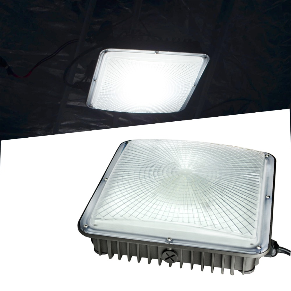 70W LED Canopy Light 5500K Gas Station Warehouse Store Highbay Lighting(2 PACK)