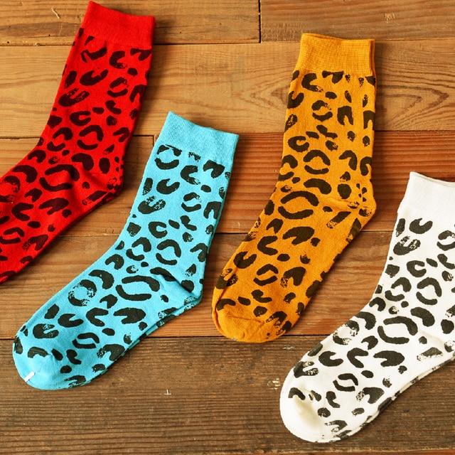 90818ca30f9 CM10256 Caramella marque décontracté coton chaussettes léopard Grain mode  loisirs femme chaussettes en gros