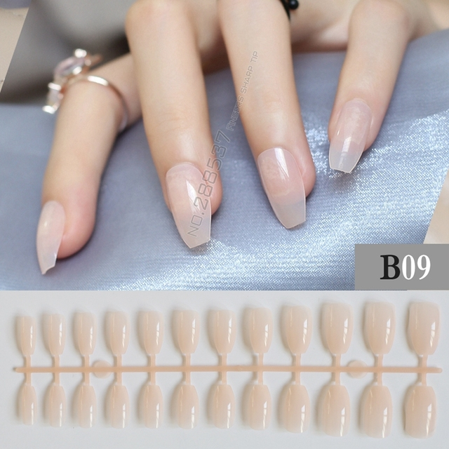 Coffin nails at home best nail designs 2018 new coffin false nails diy transpa pink semifinished articles solutioingenieria Gallery