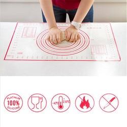 60*40CM antiadhésif Silicone tapis de cuisson pétrissage Pad feuille de Fiber de verre pâte à rouler grande taille pour gâteau Macaron outils de cuisine