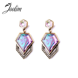 JOOLIM Jewelry Wholesale/ Trendy Vintage Cubic Stud Earring Piercing Earring Statement Party Earring For All Occasion