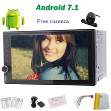 Reversing Camera+Android7.1 Car NO DVD Player gps tracker Stereo GPS Navigation Radio Audio Support WiFi/steering wheel controls