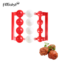 FILBAKE New 1 Pc Meatballs Manufacturer Of Plastic Molds Food-Grade Handmade Fish Balls Meat Ball Mold DIY Kitchen Tools