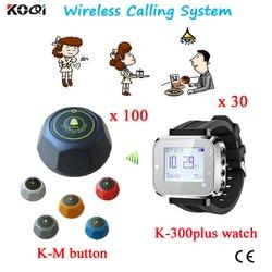 Serviço sem fio chamando sistema garçom relógio restaurante chamada pager Coaster Botão garçom sistema de paginação