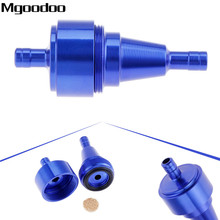 Mgoodoo Universal 6mm Petrol Gas Fuel Filter Cleaner CNC Aluminium For Motorcycle Pit Dirt Bike ATV Oil 5 Color