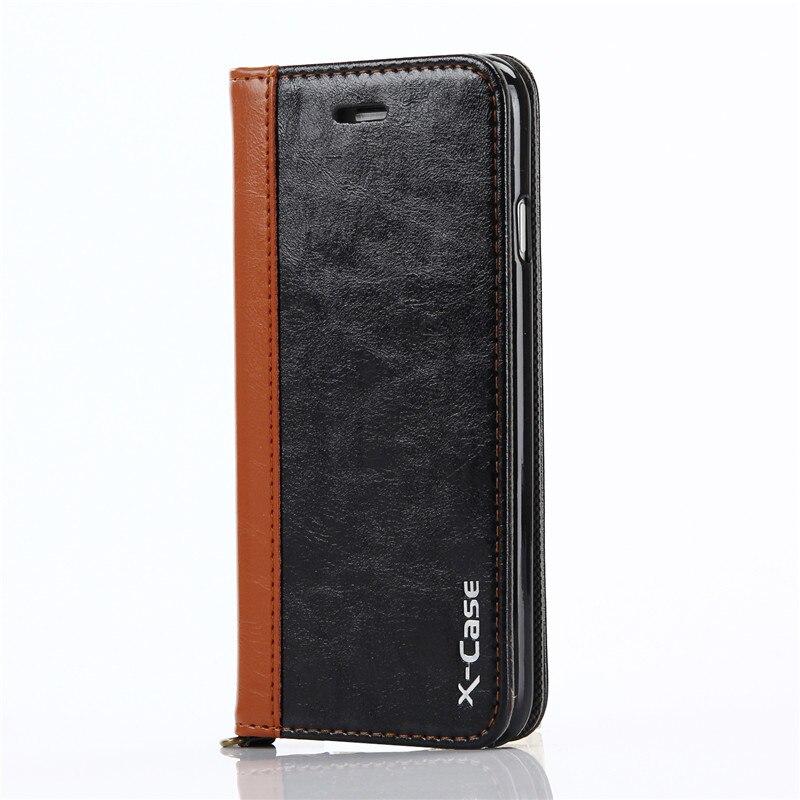 Para Funda iPhone 8 7 6 Plus 5 Funda de cuero con tapa de cuero - Accesorios y repuestos para celulares - foto 4