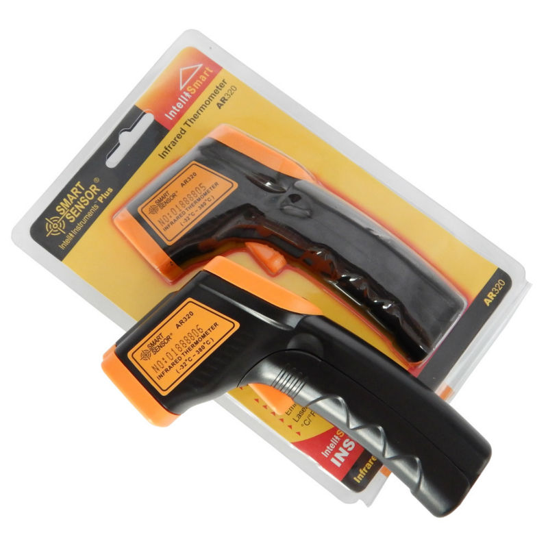 LDC IR Display Digitales Infrarot-thermometer AR320-32 ~ 380C (-26 ~ 716F) Berührungslose IR Laser-punkt-gewehr Pyrometer