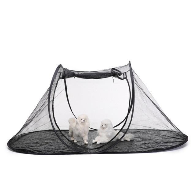 Tente pour animal domestique Portable   Cage dextérieur pour chien chat, Cage respirante et pliable, toile anti-moustiques, maison pour grands chiens, chats, tentes en filet