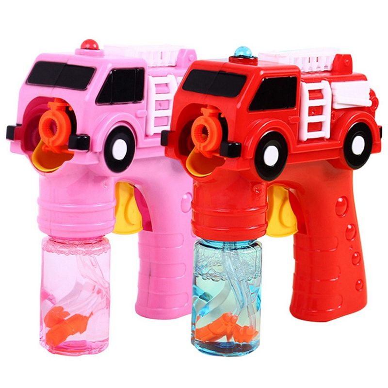 Outdoor Fun & Sports Romantic Outdoor Automatic Electric Bubble Music Light Water Gun Kids Game Toys For Children Fire Engine Soap Blow Bubbles Gun Machine Toys & Hobbies