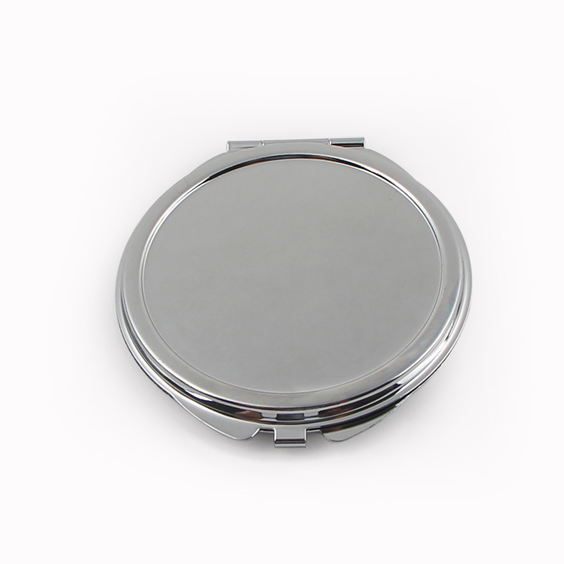Personalized Engraved Compact Mirror Round Silver Metal Makeup Mirror Wedding Gift