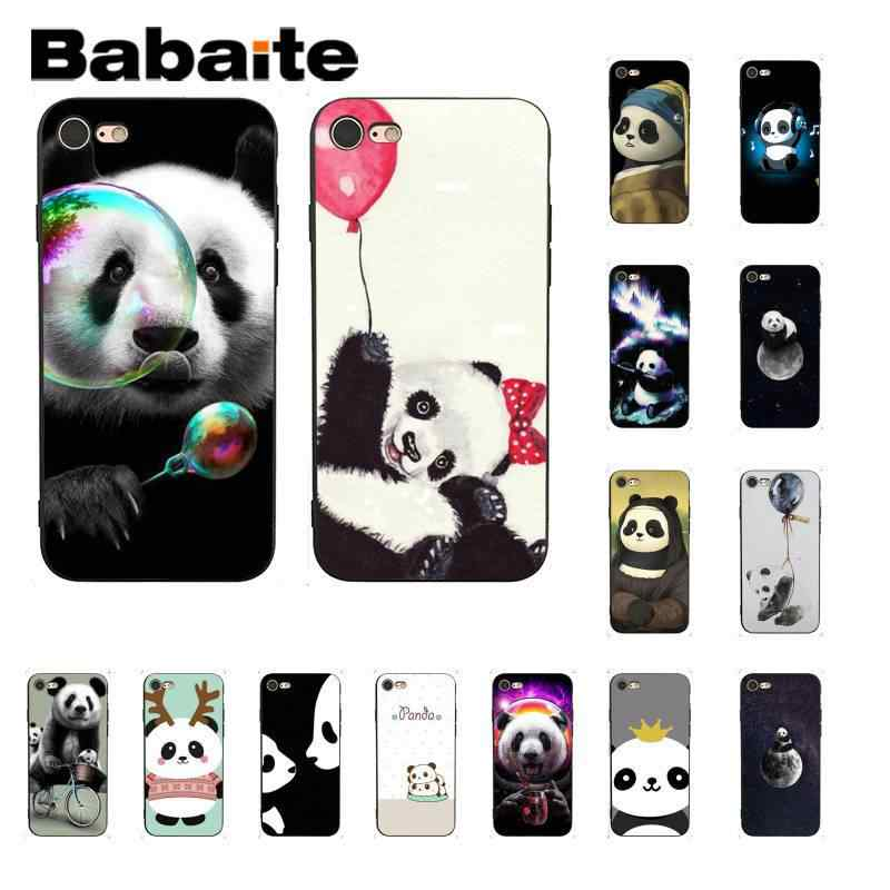 Babaite รัก funny panda DIY ทาสีโทรศัพท์กรณีสำหรับ iPhone 6S 6plus 7 7plus 8 8Plus X Xs MAX 5 5S XR 11 11pro 11promax shell