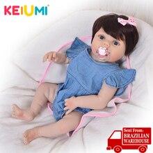 Keiumi 57 см всего тела силиконовые возрождаются куклы для детей 23 ''этнический реборн для маленьких девочек реалистичные милые принцессы на вечеринку для девочек детские игрушки для вечеринок