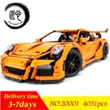 Новый 20001 дизайн серии гонки модель автомобиля строительный Наборы блоки Кирпич совместимые 42056 кирпичей мальчиков подарки развивающие игрушки