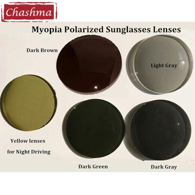 Чашма 1.56 индекс Близорукость Солнцезащитные очки линзы с антибликовым покрытием поляризованных линз для вождения и рыбалка