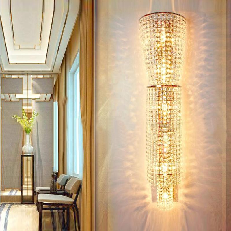 Large Wall Lamp Hotel Project Villa Large Crystal Lamp