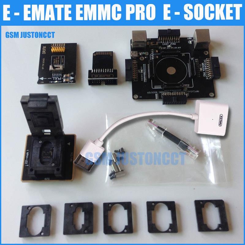 E-MATE PRO SCATOLA di Emate E-Socket 6 in 1 Nessuna saldatura BGA169E BGA162 BGA221 supporto Medusa box Pro/ UFI/ATF/FACILE JTAG Spina/RIFF BOX