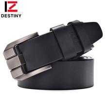Destiny hombres cinturones de cuero de lujo diseño de marca famosa alta  calidad Militar cinturón casual para Vaqueros Pasadores . 6fb844eb81fd