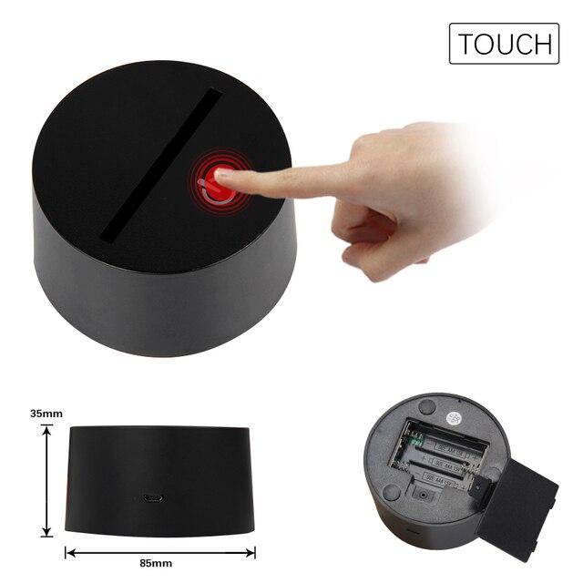 Fortnit Omega USB Night Light Home Atmosphere Decorative 3D LED Lights Batteries Operated 7 Color 5V 3D Table Lamp For Child 3
