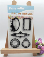 message frame silicon stamps scrapbooking stamp for kids diy paper card wedding gift christmas gift poto Album LL-067