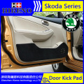 Hireno Car Door Anti Kick Pad Mat Cover Sticker For skoda Fabia Octavia Rapid Superb Yeti Car Door Protective Pad