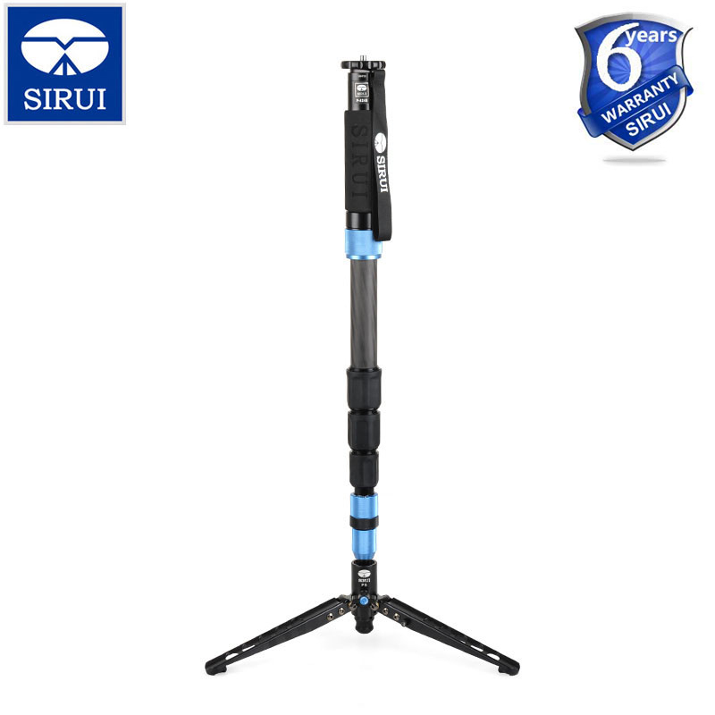 Free Shipping SIRUI P-424S P424S Monopod For Camera Portable Carbon Fiber Tripod 6 Section Carrying Bag Max Loading 12kg
