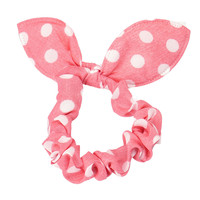 Hot Sale Fashion Casual Hair Ring Pink 1PC Rabbit Ears Round Dots High Quality Hair Ring Hair Care Wholesale & Drop Shipping Health & Beauty