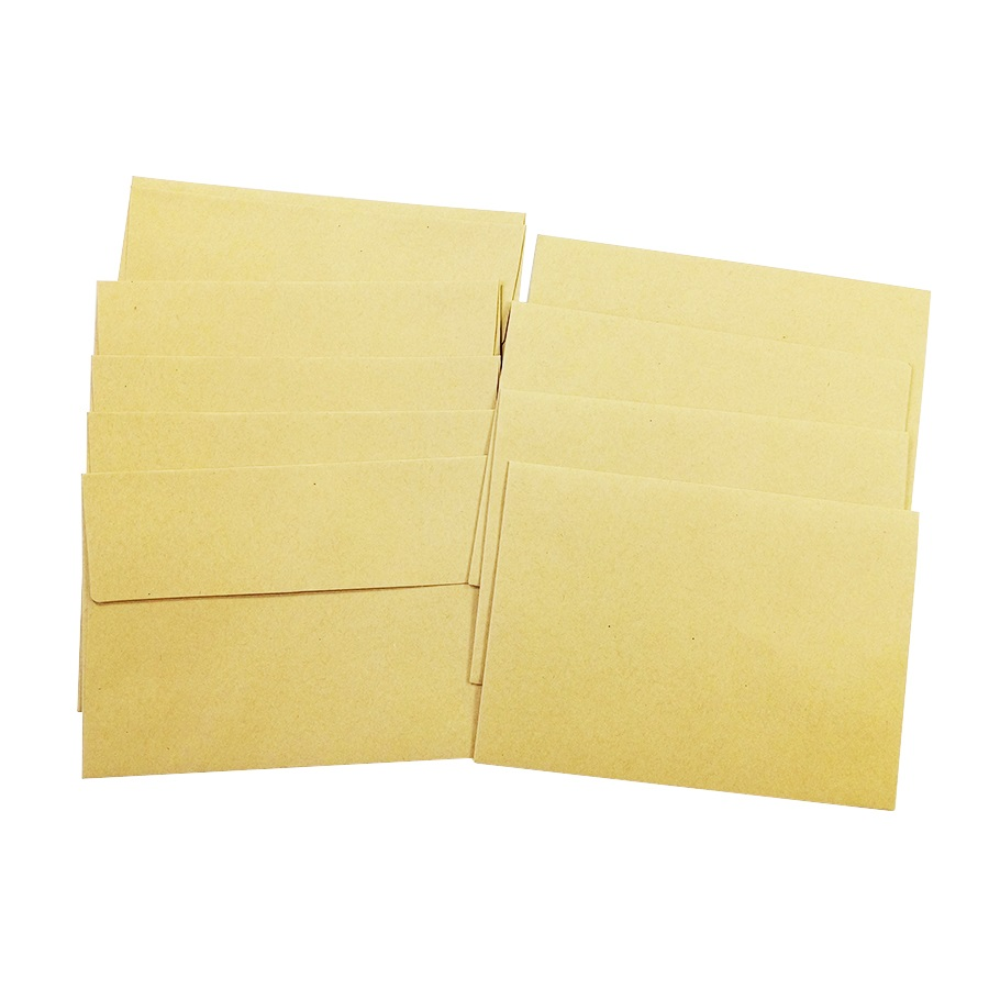 50 Pcs/lot Vintage  Kraft Paper Envelopes DIY Multifunction Cards Office&School Supplies