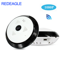 лучшая цена REDEAGLE 360 Degree Panoramic Wide Angle WiFi CCTV Camera 1080P HD Wireless Smart IP Camera Fisheye Home Security Cameras