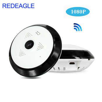 REDEAGLE 360 Degree Panoramic Wide Angle WiFi CCTV Camera 1080P HD Wireless Smart IP Camera Fisheye Home Security Cameras - DISCOUNT ITEM  0% OFF All Category