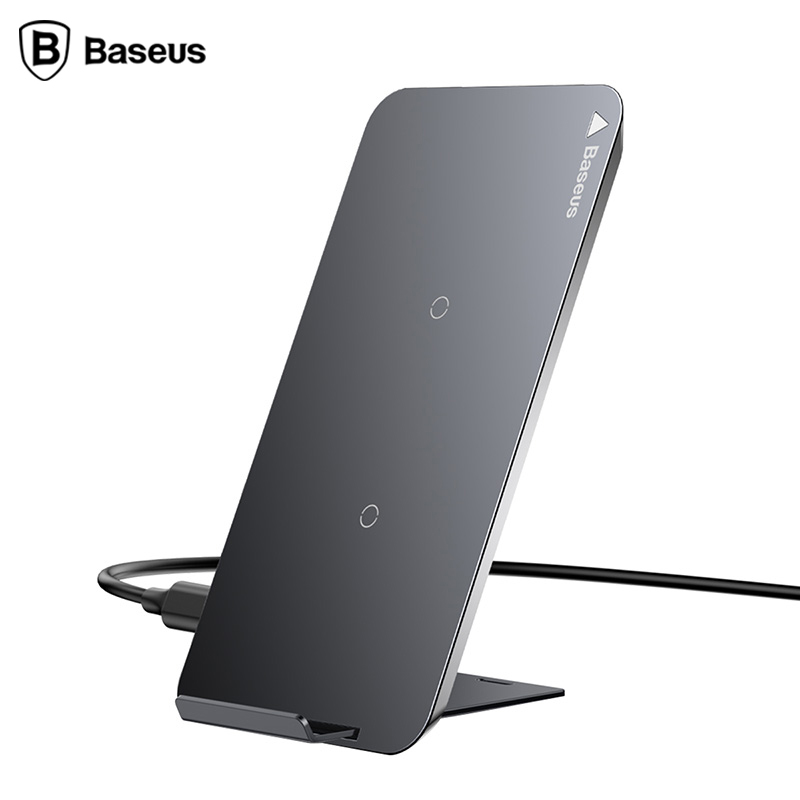 Baseus QI fast Wireless charger for iphone X samaung Galaxy S9 phone holder All Qi-Enabled Phone Wireless Devices Charging