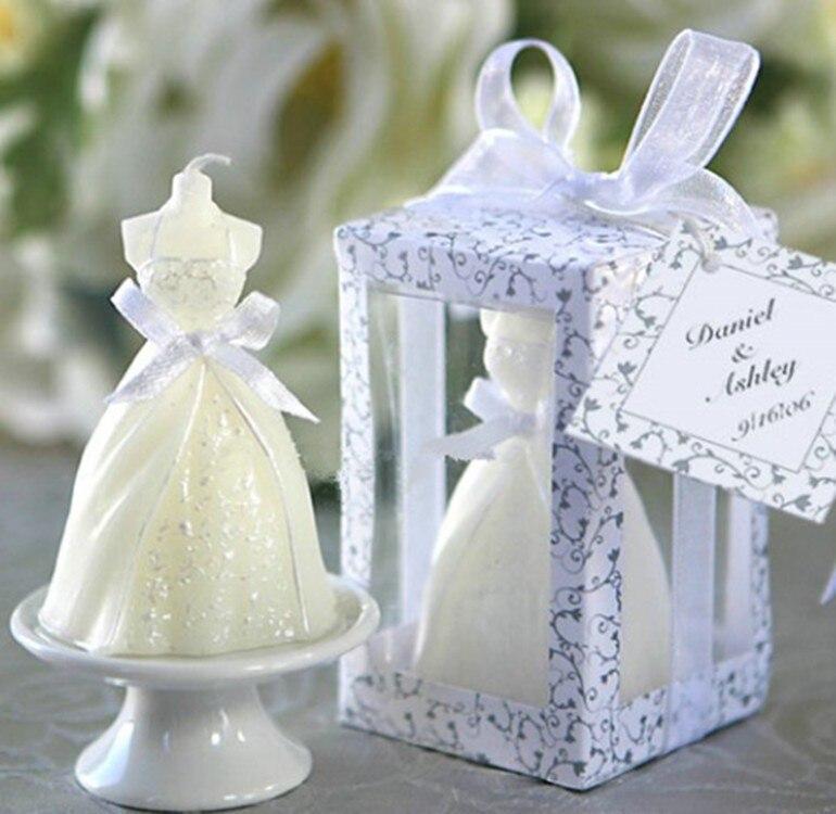unids romntica decoracin de la boda de novia vestido de fiesta de las velas velas velas decorativas regalos del favor