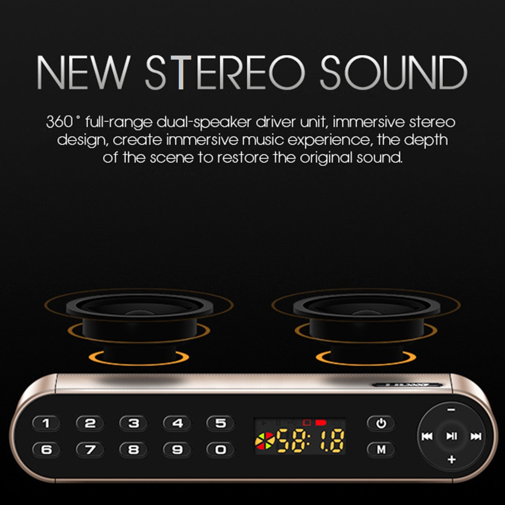 toproad hifi wireless bluetooth speaker with super bass dual speakers soundbar and fm radio