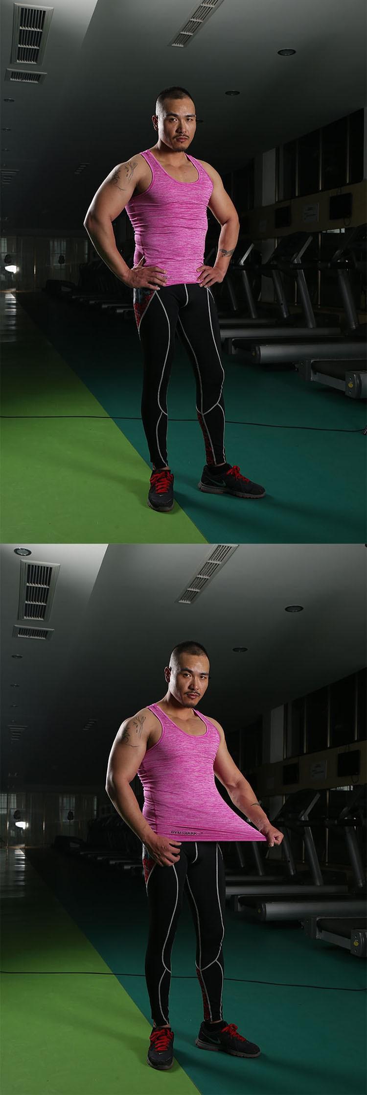 Gym Tank Tops Men Undershirt Sports Wear GymShark Singlet Bodybuilding Basketball Fitness Training Tight Vest Sleeveless Shirt (4)