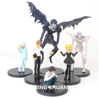 6 Pcs/set DEATH NOTE 6 Style Yagami Light Ryuuku Rem Misa Amane Plastic Action Figure Collectible Model Toy OPP 7 18CM Z195