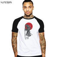 Comics Japanese Samurai Style Fitness Camiseta Masculino Summer Men Clothing Cotton Top Tees Fashion T Shirt