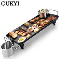 Cukyi coreano forno elétrico do agregado familiar sem fumaça antiaderente máquina de churrasco elétrica hotplate sushi grelhado carne pan 1400 w ue electric grill pan korean electric grill pan korean barbecue pan -
