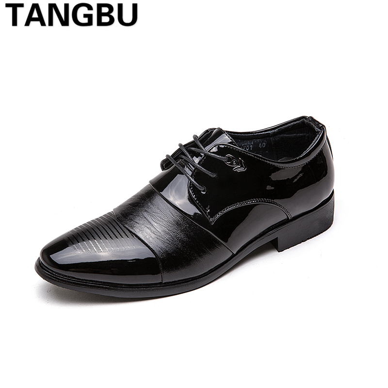 New Arrival Pointed Toe Men Casual Business Shoes Lace Up Breathable Formal Leather Shoes Hot Fashion Men Dress Shoes Size 37-44