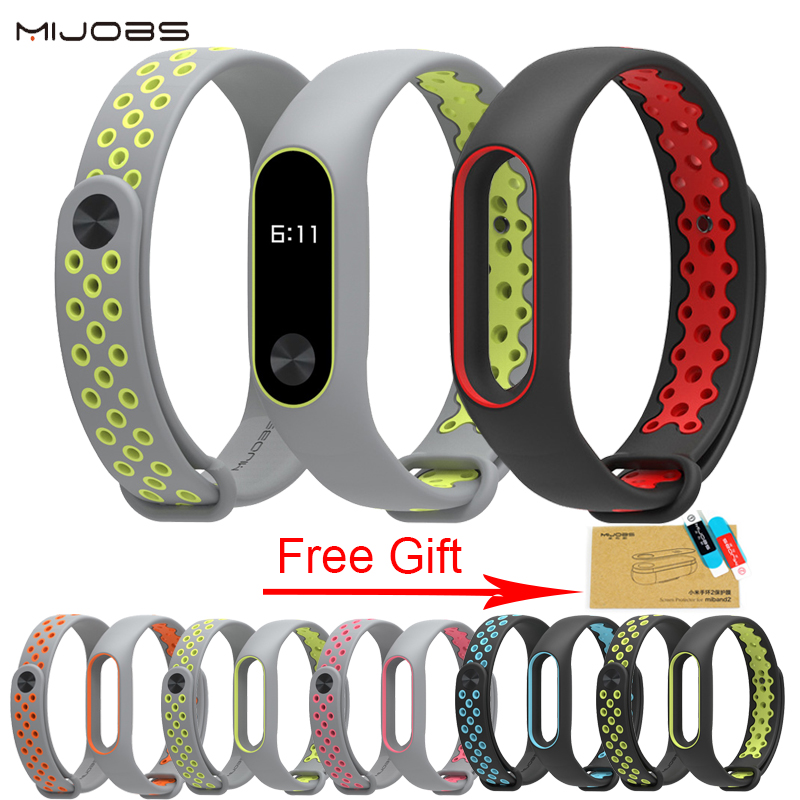 Sports wrist strap Mi Band 2 Bracelet Strap For Xiaomi miband 2 Wristband Smart Bracelet Accessories For Mi Band 2 Silicone Band