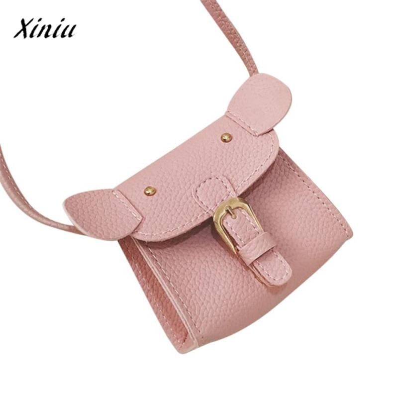 xiniu hildren Cute Animal Print Leather Bag Shoulder Bag Mini Crossbody Bag Coin purse cat wallets for children cat purse худи print bar walking cat