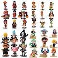 Anime One Piece Ação PVC Figuras Bonito Mini Figura Toys Dolls Modelo Coleção Toy Brinquedos 9 Peça Definir Frete Grátis