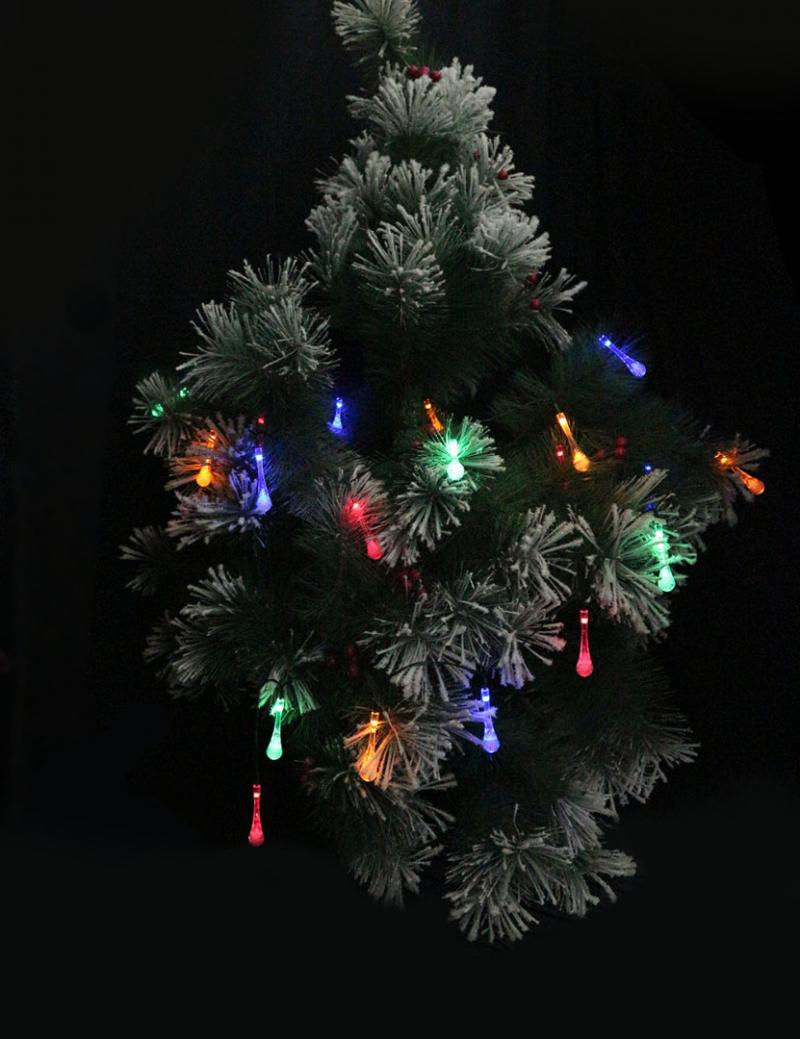 Solar Christmas Tree String Lights : Hot LED Solar Water Drop String Light For Christmas Party Garden Xmas Tree Decor-in Lighting ...