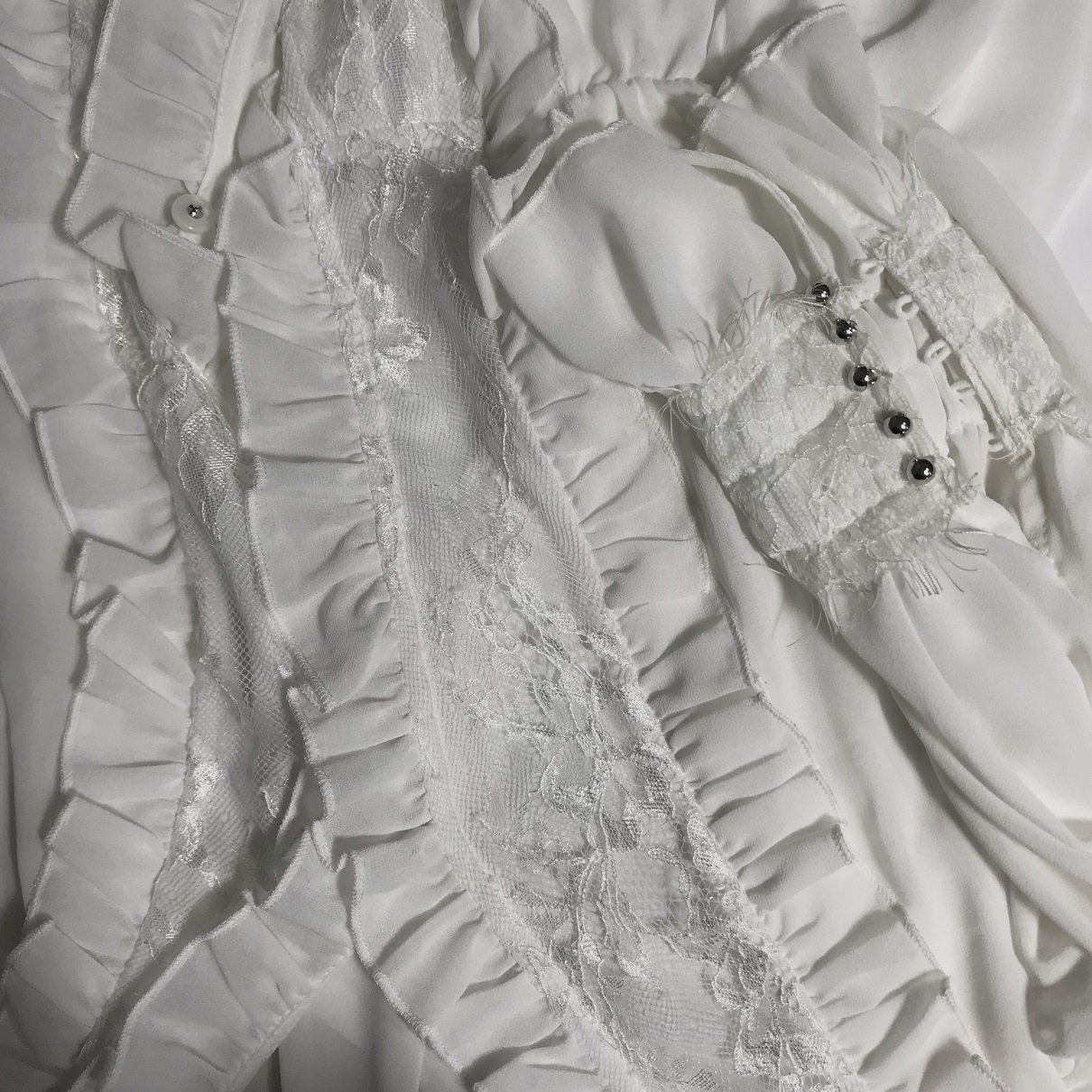 Frauen sommer hohl out Shirts Fance stil mit langen ärmeln elegante spitze Hemd Tops A292 - 5