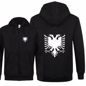 Image 1 - אלבניה אופנה חדשה גברים נשים סתיו חולצות נים צמר רוכסן מעיל & Jacket Slim Fit גברים Streetwear באיכות גבוהה XS 2XL