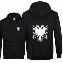 New Fashion Albania Sweatshirts Autumn Women Men Zipper Fleece Hoodies Slim Fit Streetwear Men Coat&Jacket High Quality XS 2XL