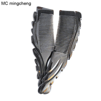 MC Professional Makeup Brushes Lace Massage Black Ox Horn Combs Shampoo Brush Anti Static Wide Tooth Travel Hairbrush Arrival