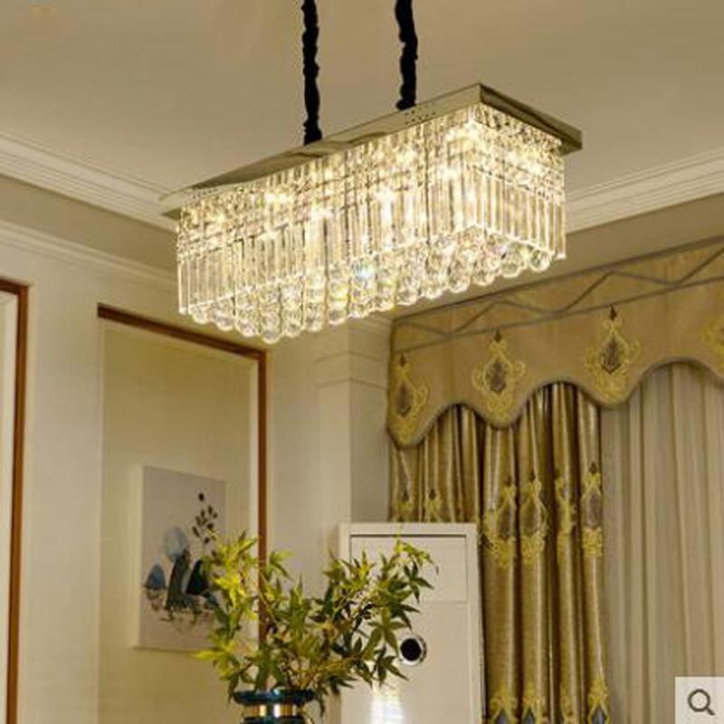 Lampada di cristallo lampada lampadario ristorante rettangolare ambiente moderno e minimalista creativo soggiorno camera da letto sala da pranzo lampadaLampada di cristallo lampada lampadario ristorante rettangolare ambiente moderno e minimalista creativo soggiorno camera da letto sala da pranzo lampada