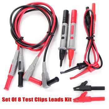 8Pcs/Set  Electronic Specialties Test Clips Leads Kit Banana Tester Probe Kit For Fluke Multimeter